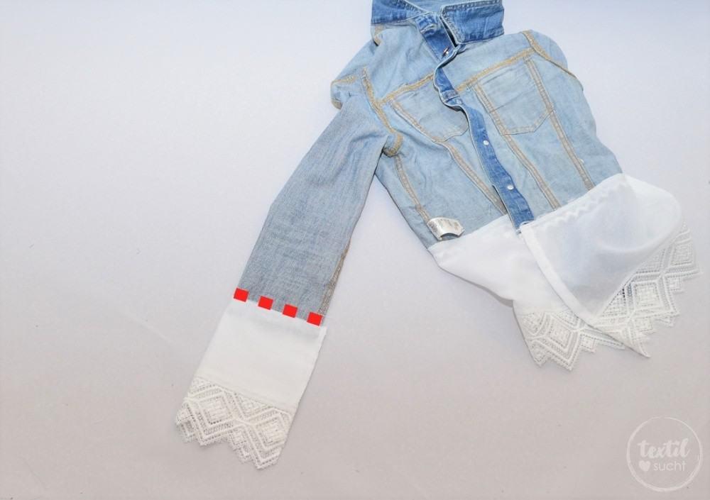 Tutorial: Jeansjacke Upcycling - Schritt 8 | textilsucht.de