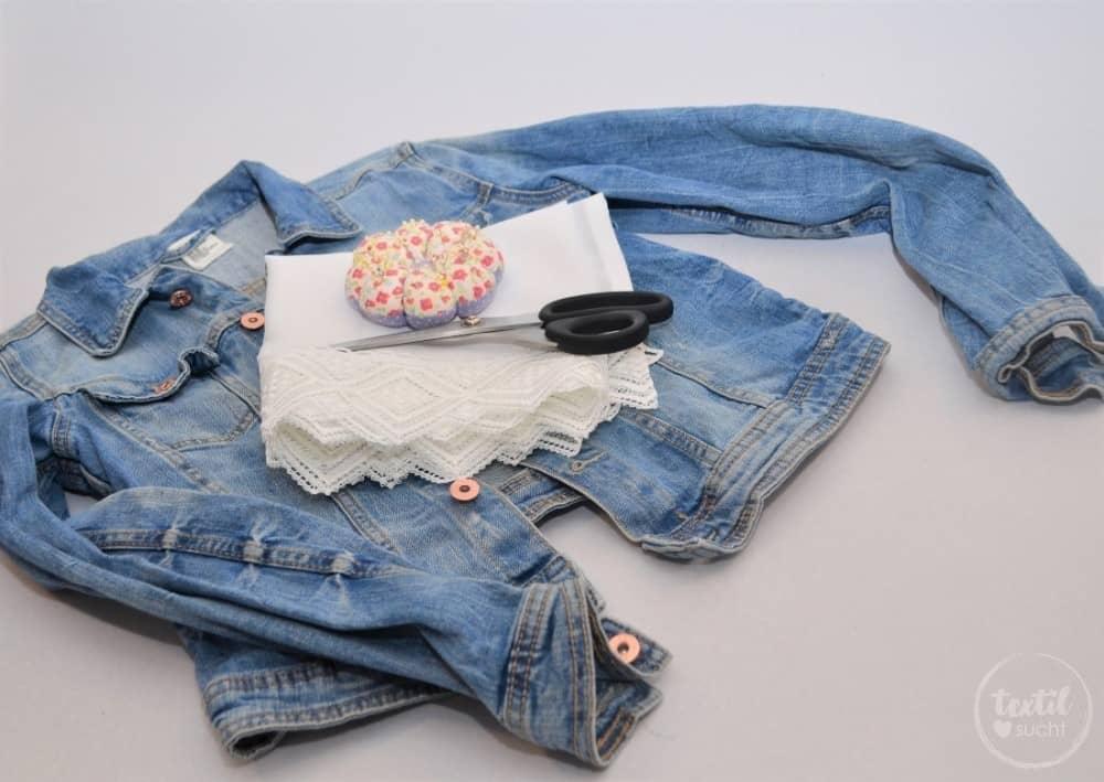 Tutorial: Jeansjacke Upcycling - Schritt 1 | textilsucht.de