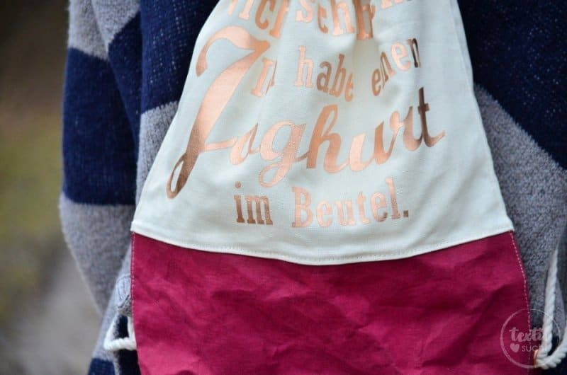 Turnbeutel Rucksack nähen mit colARTex® - Bild 2 | textilsucht.de