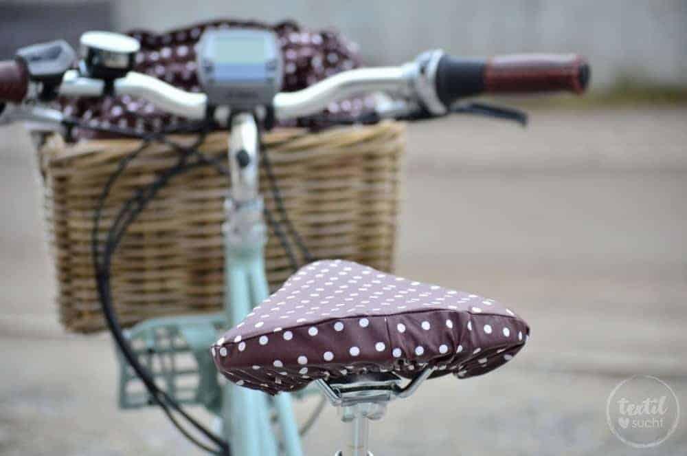 Nähanleitung: Sattelbezug für's Fahrrad nähen