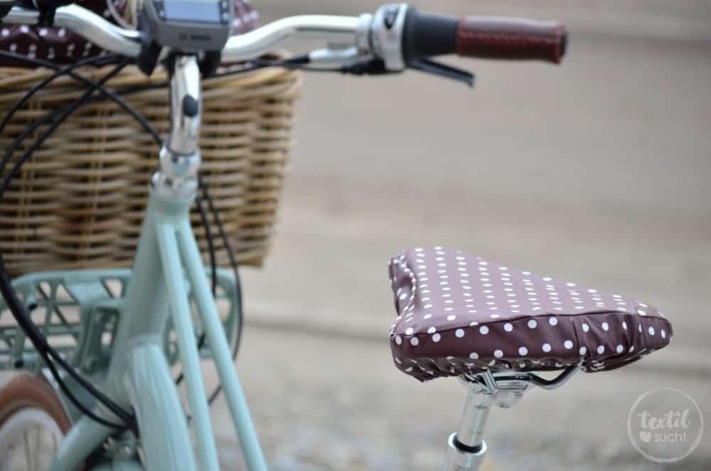 Sattelbezug und Tasche für den Fahrradkorb nähen - Bild 2 | textilsucht.de