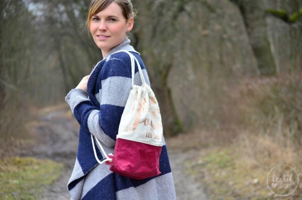 Turnbeutel Rucksack nähen mit colARTex® - Bild 5   textilsucht.de