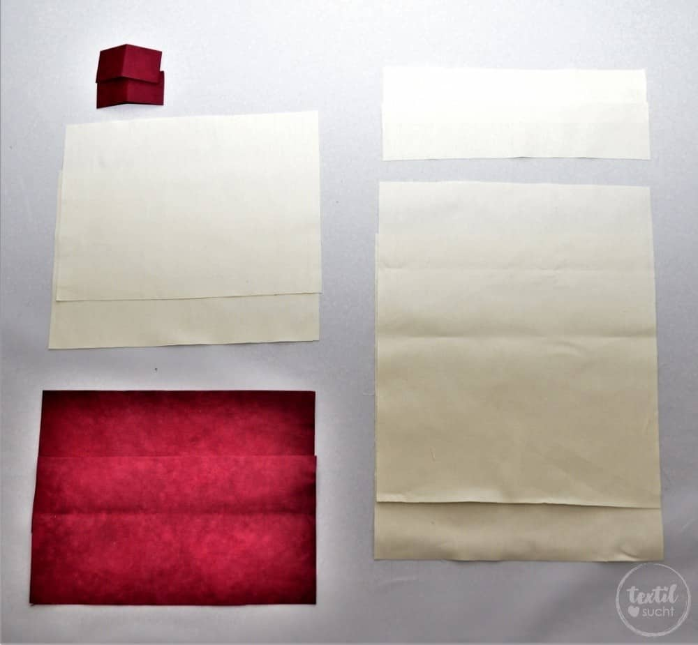 Turnbeutel Rucksack nähen mit colARTex® - Schnittteile für den Rucksack   textilsucht.de