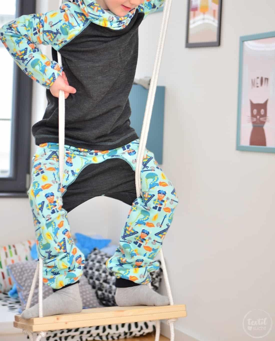 Kinderkleidung nähen: Pullover und Hose aus Wikinger Sweat von Swafing - Bild 1 | textilsucht.de