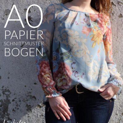 Papierschnittmuster Bluse + Top Moana