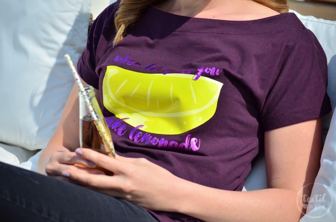 Schnittmuster Shirt U-Boot-Ausschnitt und Plot LEMON - Bild 6 | textilsucht.de
