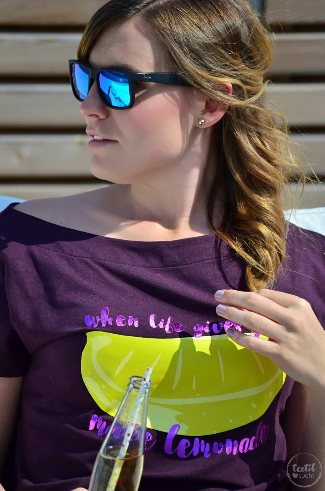Schnittmuster Shirt U-Boot-Ausschnitt und Plot LEMON - Bild 7 | textilsucht.de