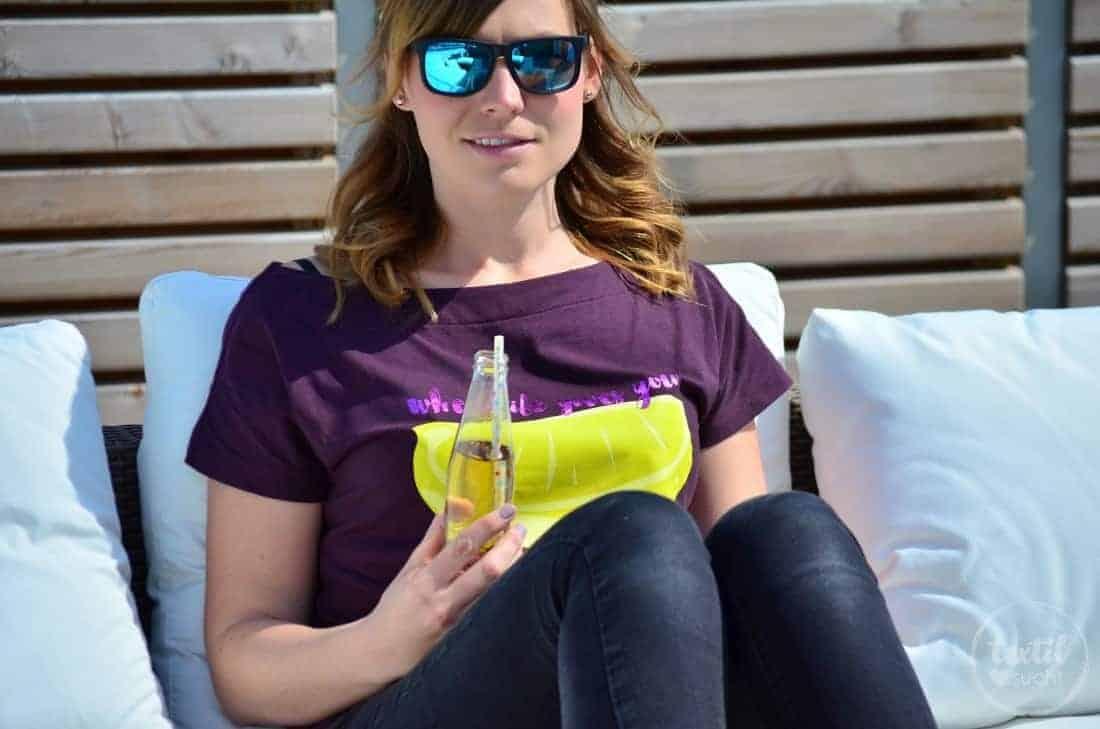 Shirt Lilla – wenn das Leben dir Zitronen gibt – mach was draus