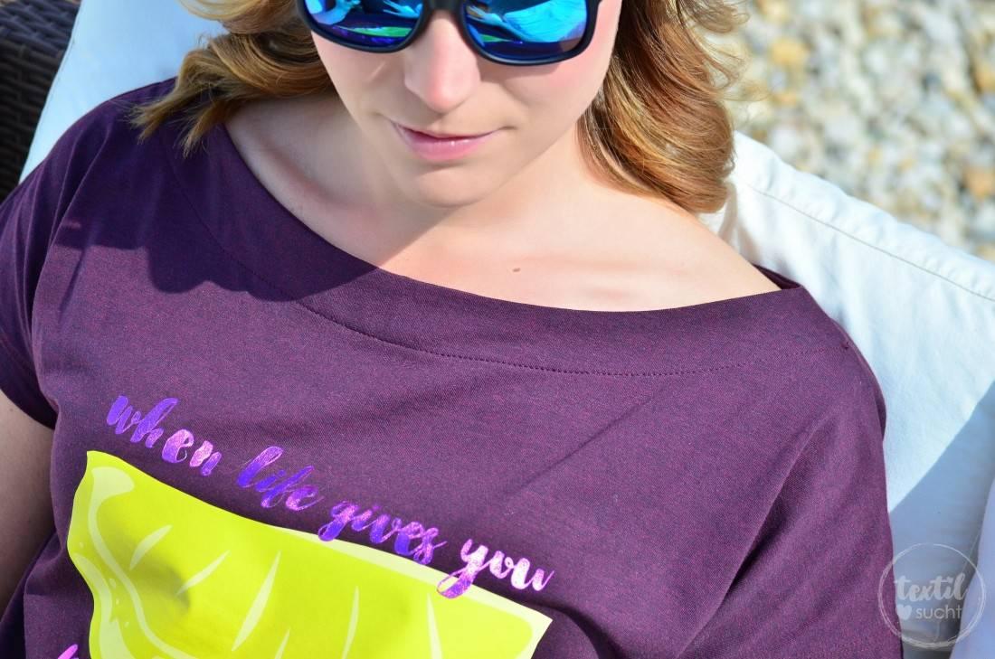 Schnittmuster Shirt U-Boot-Ausschnitt und Plot LEMON - Bild 3 | textilsucht.de