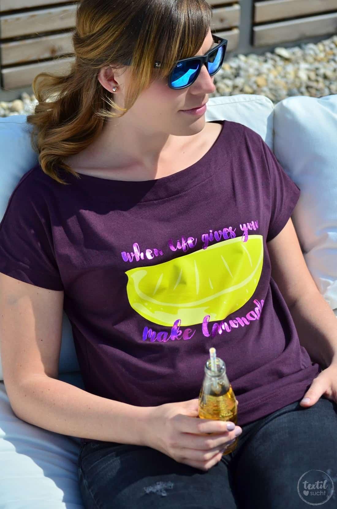 Schnittmuster Shirt U-Boot-Ausschnitt und Plot LEMON - Bild 4 | textilsucht.de