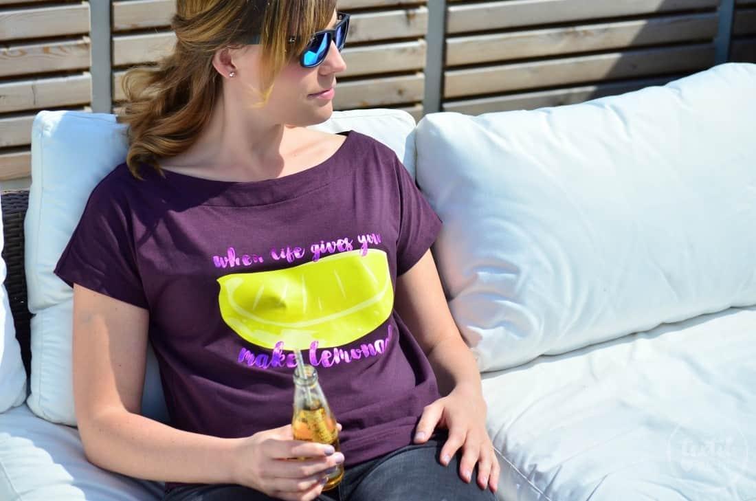 Schnittmuster Shirt U-Boot-Ausschnitt und Plot LEMON - Bild 2 | textilsucht.de