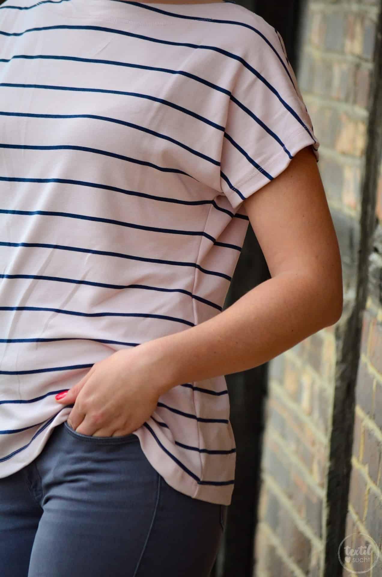 Schnittmuster Shirt Lilla mit U-Boot-Ausschnitt - Bild 8 | textilsucht.de