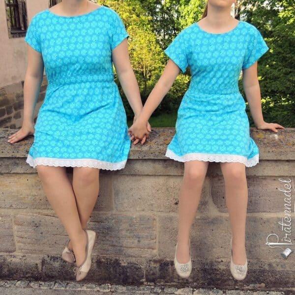 Kombi-Ebook Schnittmuster Kleid Federleicht für Damen & Kinder