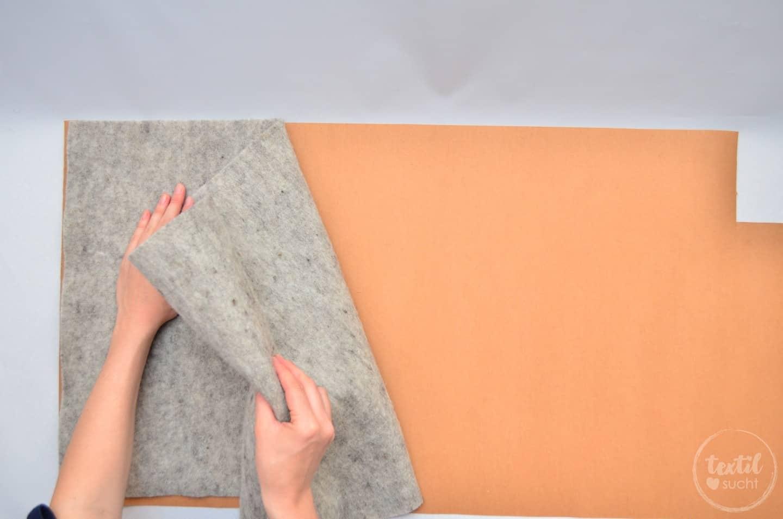 Nähanleitung: Notebookhülle nähen aus Filz und SnapPap - Schritt 3 | textilsucht.de