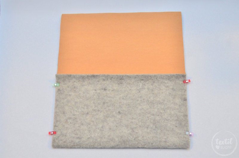 Nähanleitung: Notebookhülle nähen aus Filz und SnapPap - Schritt 5   textilsucht.de