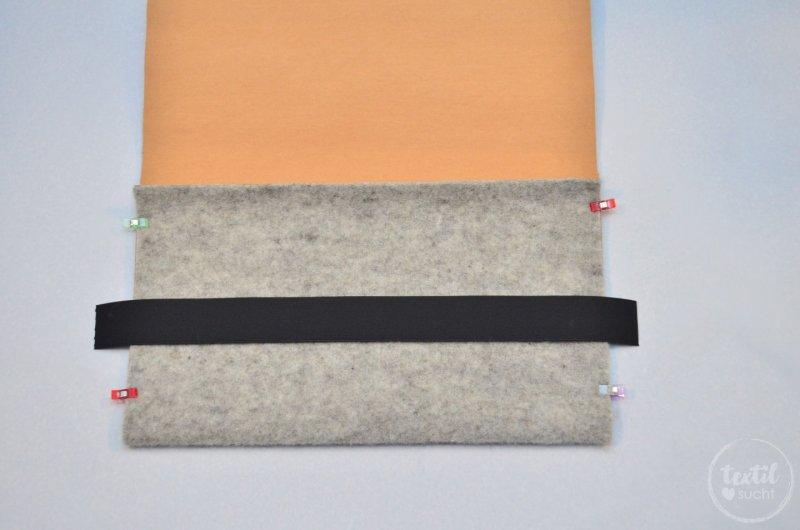 Nähanleitung: Notebookhülle nähen aus Filz und SnapPap - Schritt 6   textilsucht.de