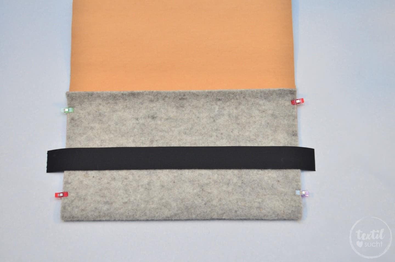 Nähanleitung: Notebookhülle nähen aus Filz und SnapPap - Schritt 6 | textilsucht.de