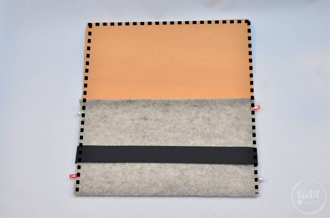 Nähanleitung: Notebookhülle nähen aus Filz und SnapPap - Schritt 8 | textilsucht.de