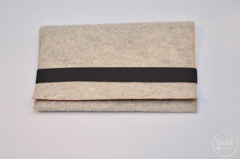 Nähanleitung: Notebookhülle nähen aus Filz und SnapPap - Schritt 9   textilsucht.de