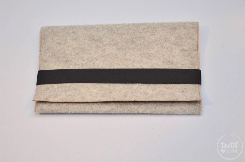 Nähanleitung: Notebookhülle nähen aus Filz und SnapPap - Schritt 9 | textilsucht.de
