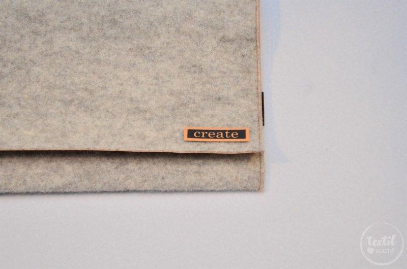 Nähanleitung: Notebookhülle nähen aus Filz und SnapPap - Schritt 10   textilsucht.de