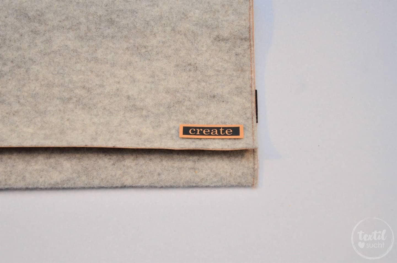 Nähanleitung: Notebookhülle nähen aus Filz und SnapPap - Schritt 10 | textilsucht.de