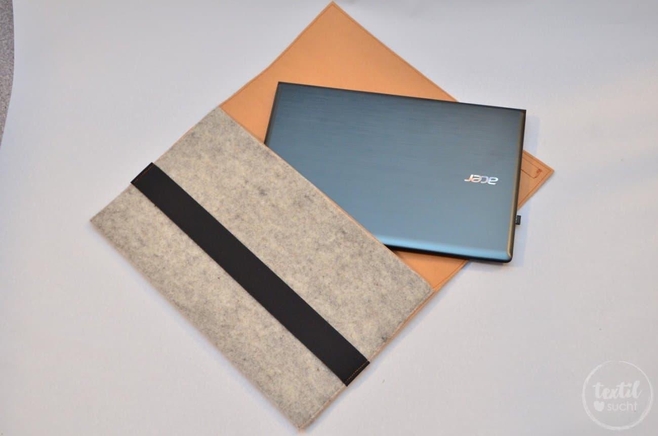 Nähanleitung: Notebookhülle aus Filz und Snap Pap nähen - Bild 3 | textilsucht.de