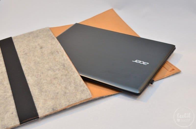 Nähanleitung: Notebookhülle aus Filz und Snap Pap nähen - Bild 2   textilsucht.de