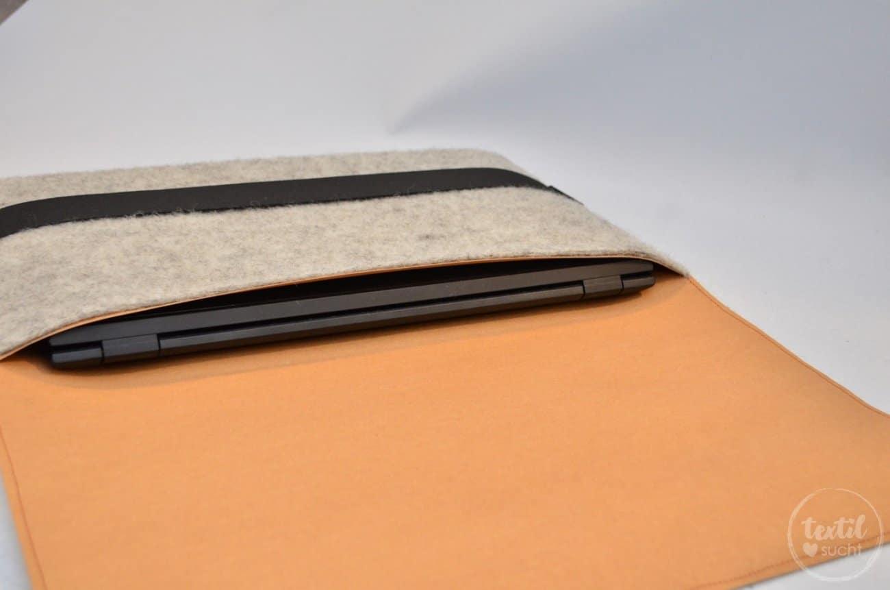 Nähanleitung: Notebookhülle aus Filz und Snap Pap nähen - Bild 4 | textilsucht.de