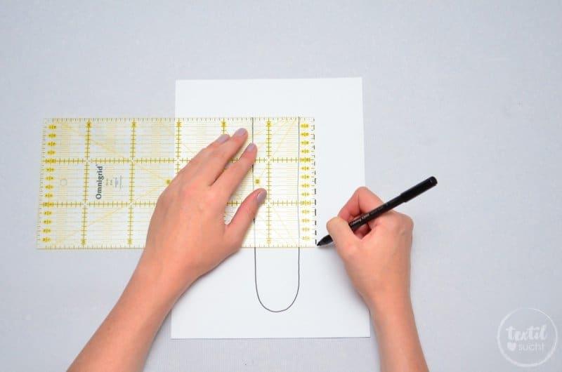 Schwerthülle nähen aus Snap Pap - Schritt 2 | textilsucht