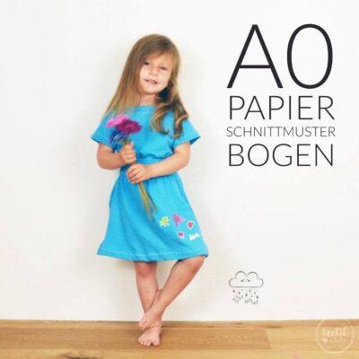 Papierschnittmuster Kinderkleid Federleicht + Nähanleitung