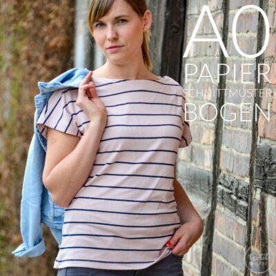 Papierschnittmuster Shirt & Kleid Lilla + Nähanleitung