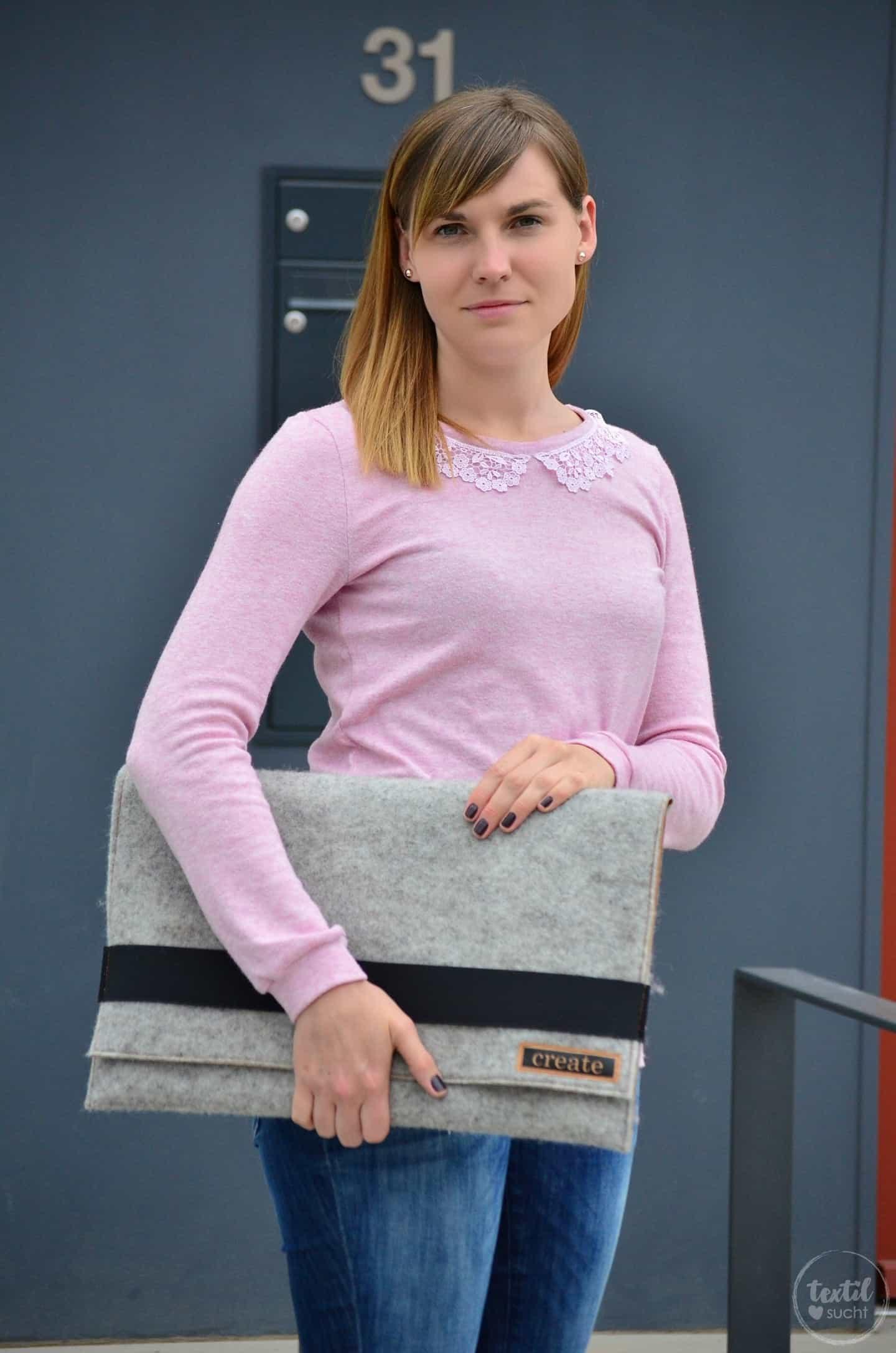 Nähanleitung: Notebookhülle aus Filz und Snap Pap nähen - Bild 1 | textilsucht.de