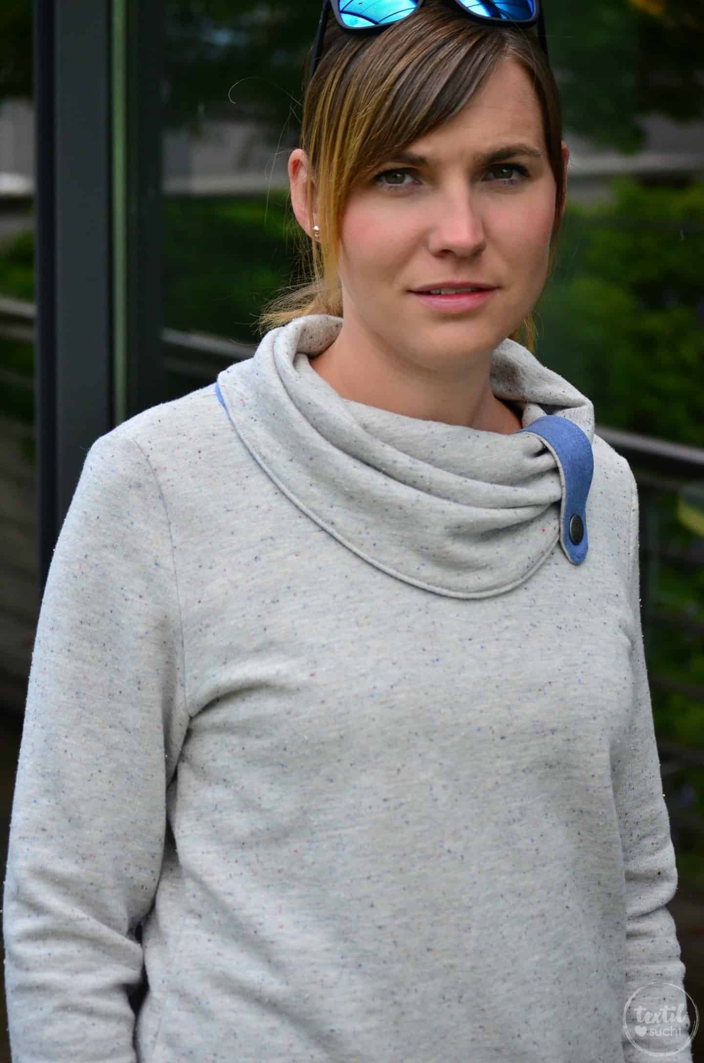 Pullover Schnitt Herzkönigin aus Vintagesweat von Staghoern Design - Bild 2 | textilsucht.de