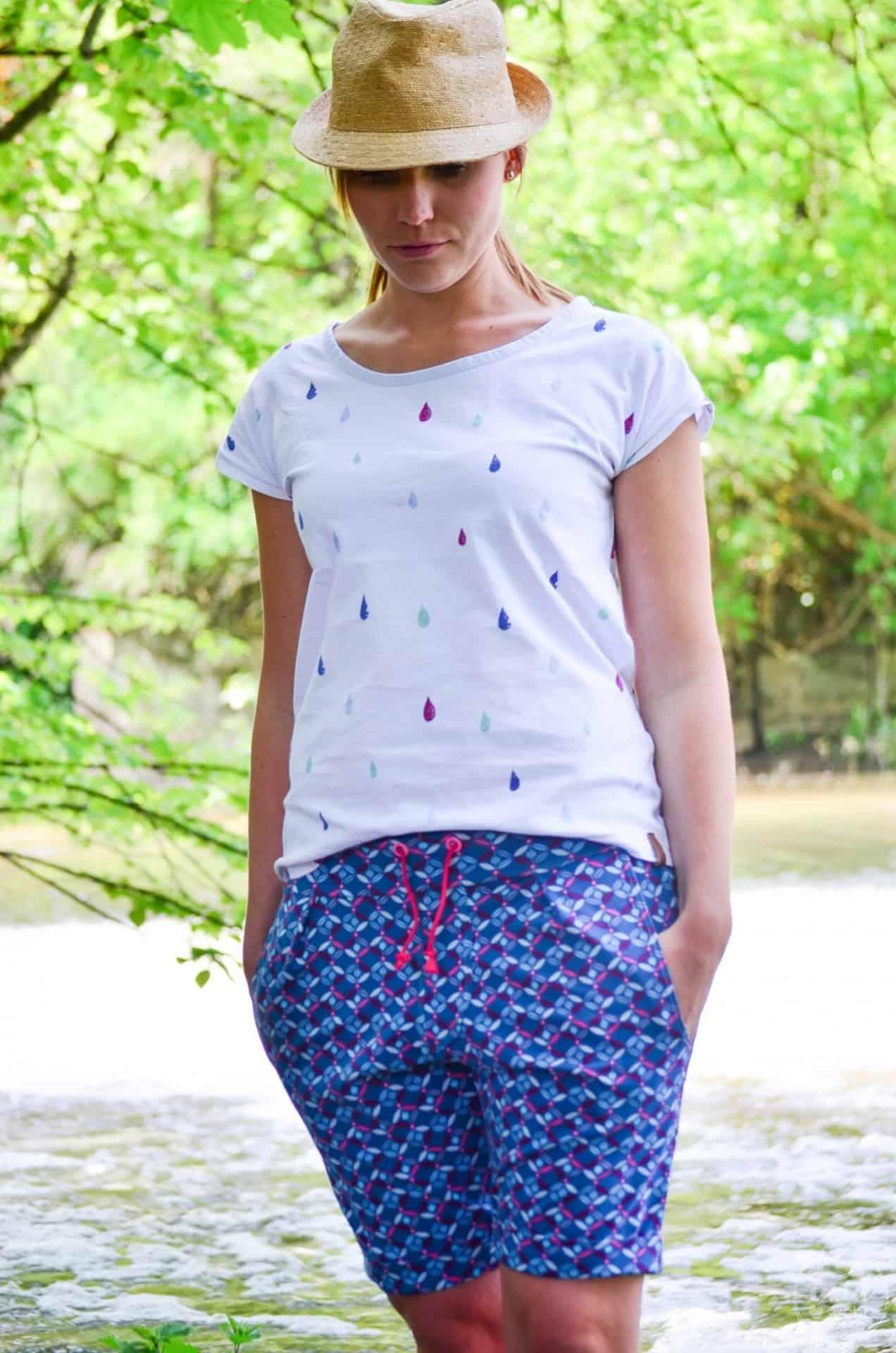 Nähen für den Sommerurlaub: Velara Shorts aus Jersey - Bild 3 | textilsucht.de