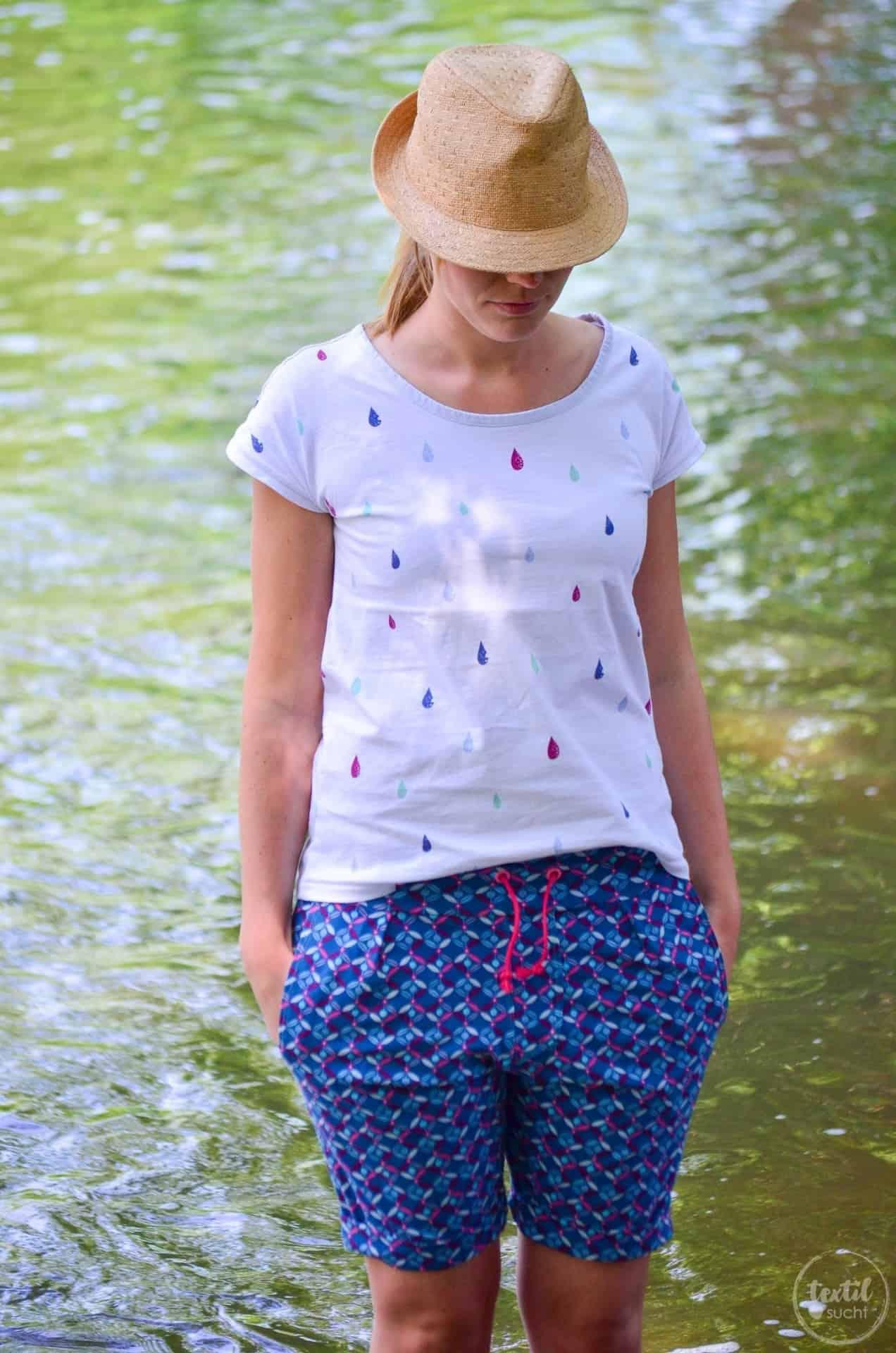 Nähen für den Sommerurlaub: Velara Shorts aus Jersey - Bild 1 | textilsucht.de
