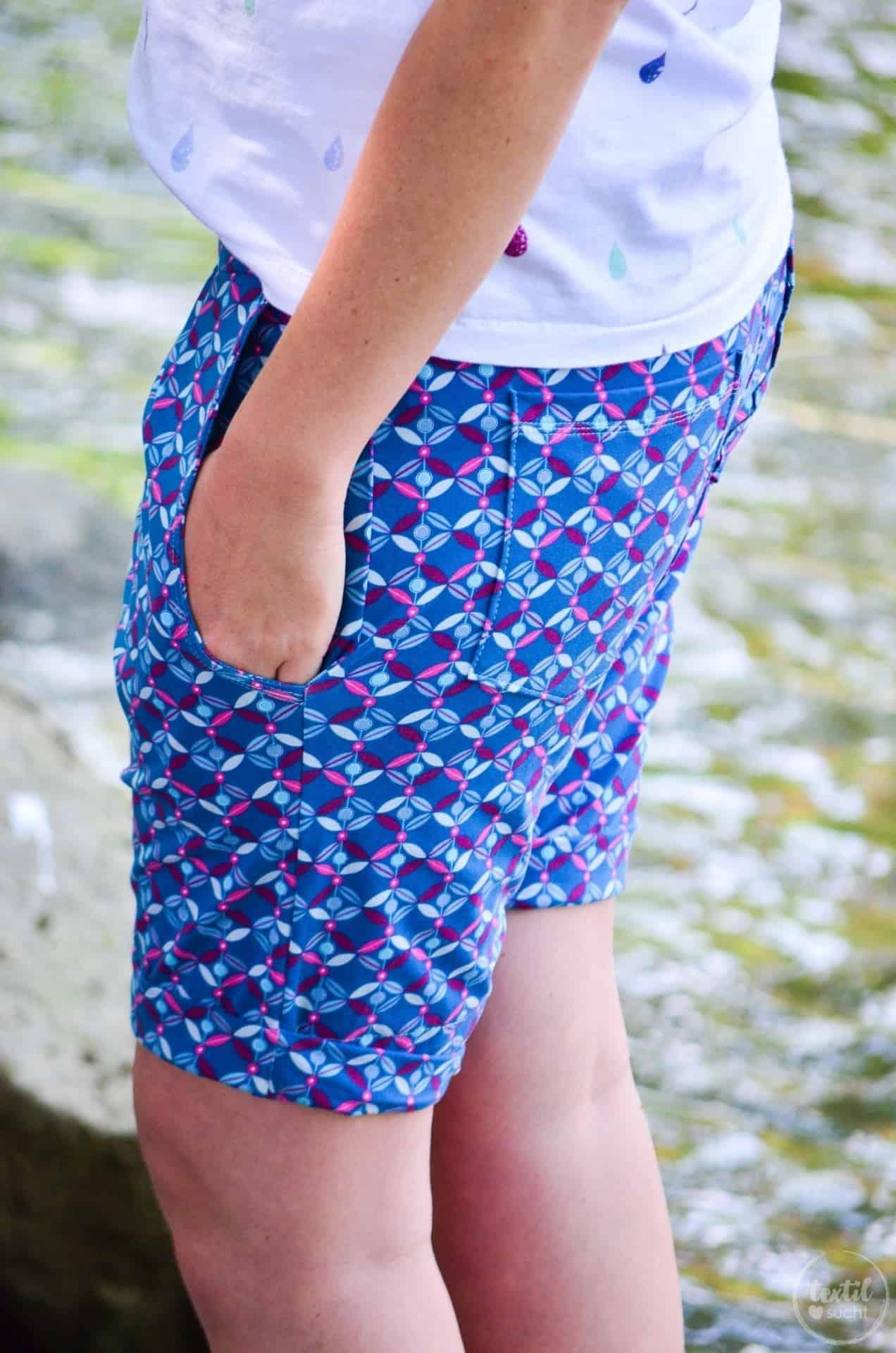 Nähen für den Sommerurlaub: Velara Shorts aus Jersey - Bild 5 | textilsucht.de