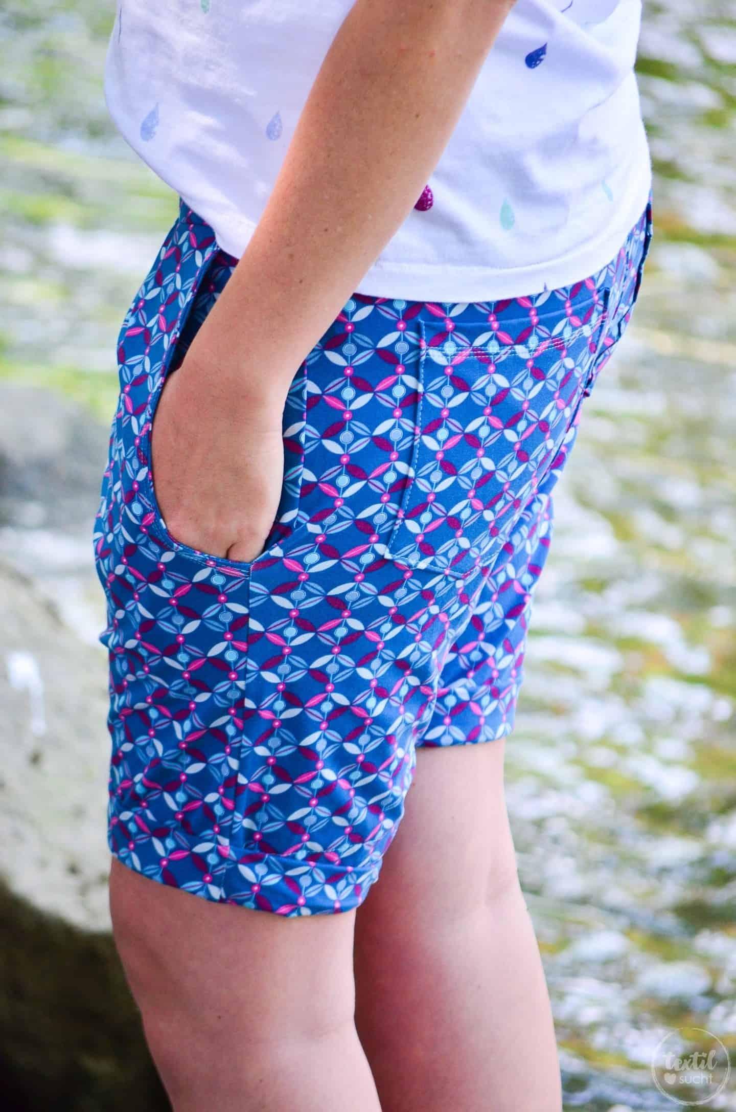 Nähen für den Sommerurlaub: Velara Shorts aus Jersey » Textilsucht®