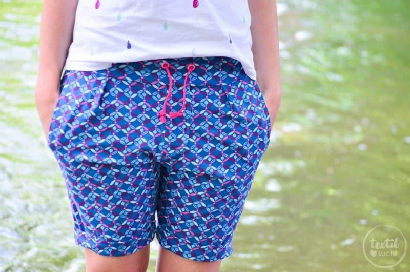 Nähen für den Sommerurlaub: Velara Shorts aus Jersey - Titelbild | textilsucht.de