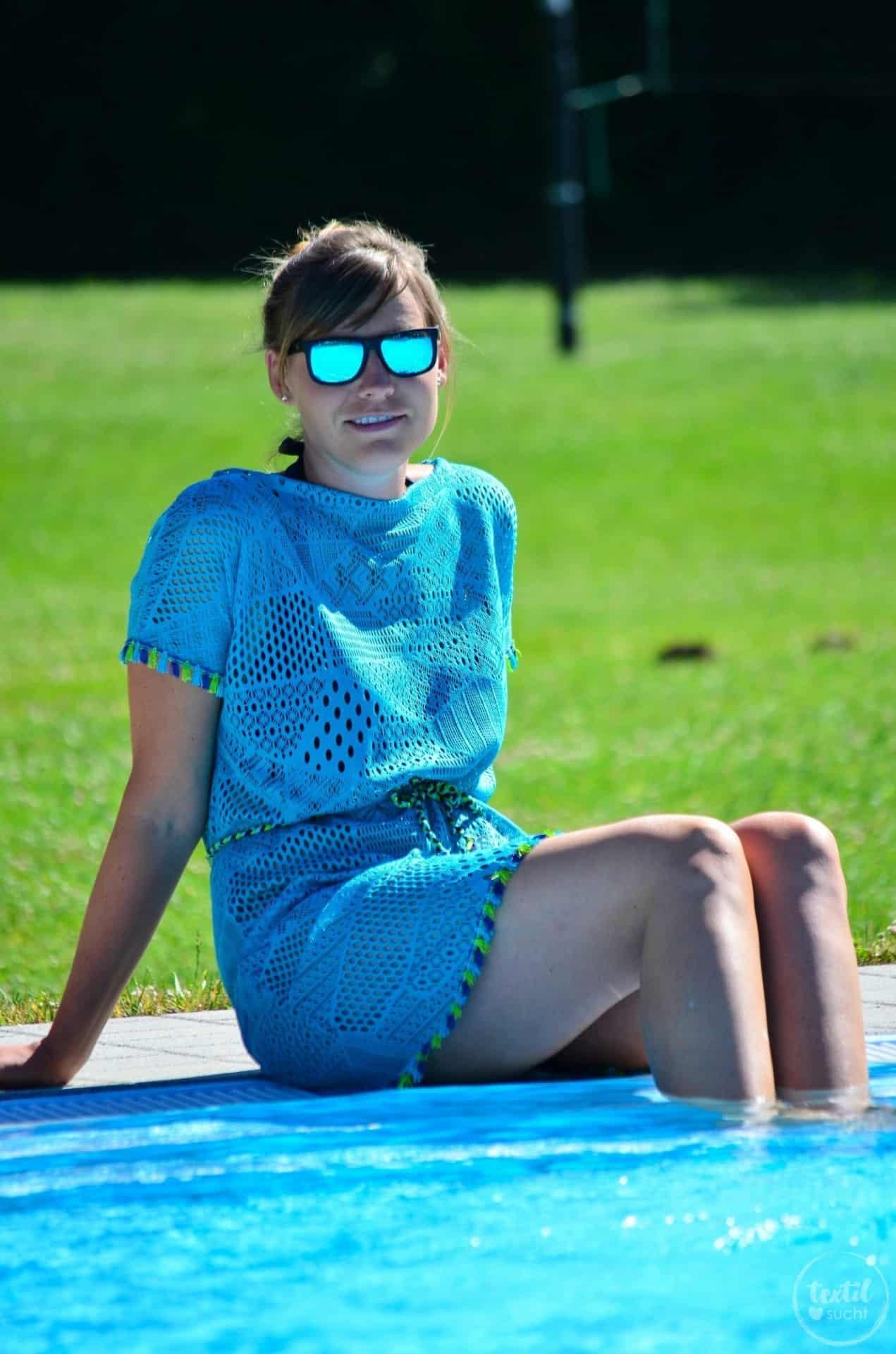 Nähen für den Strand: Shirt Lilla als Strandkleid - Bild 1 | textilsucht.de