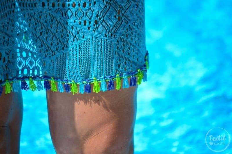 Nähen für den Strand: Shirt Lilla als Strandkleid - Bild 4 | textilsucht.de