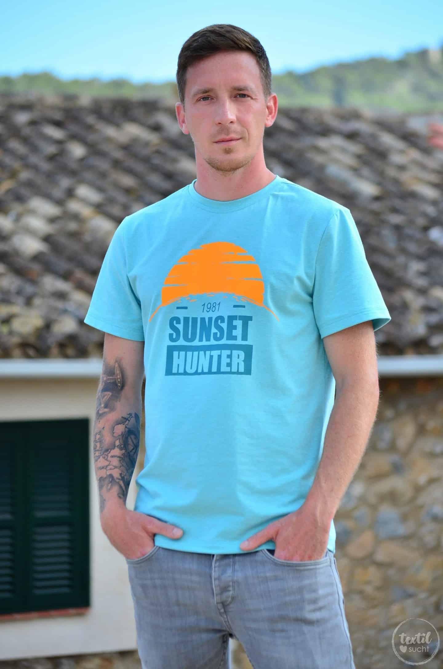 Nähen für den Sommer: Schnittmuster Shirt Rio & Plottervorlage Sunset Hunter | textilsucht.de