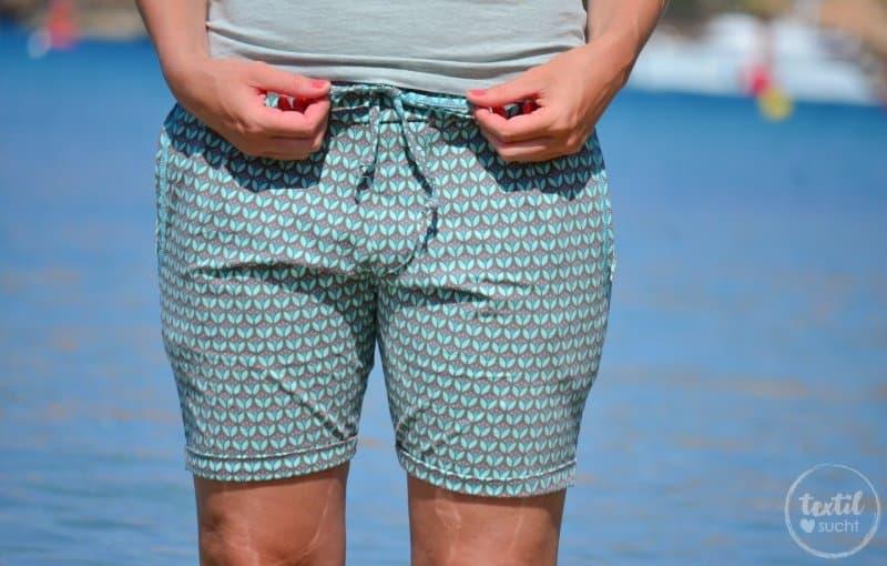 Nähen für den Strand: Schnittmuster Velara als Shorts - Bild 10   textilsucht.de