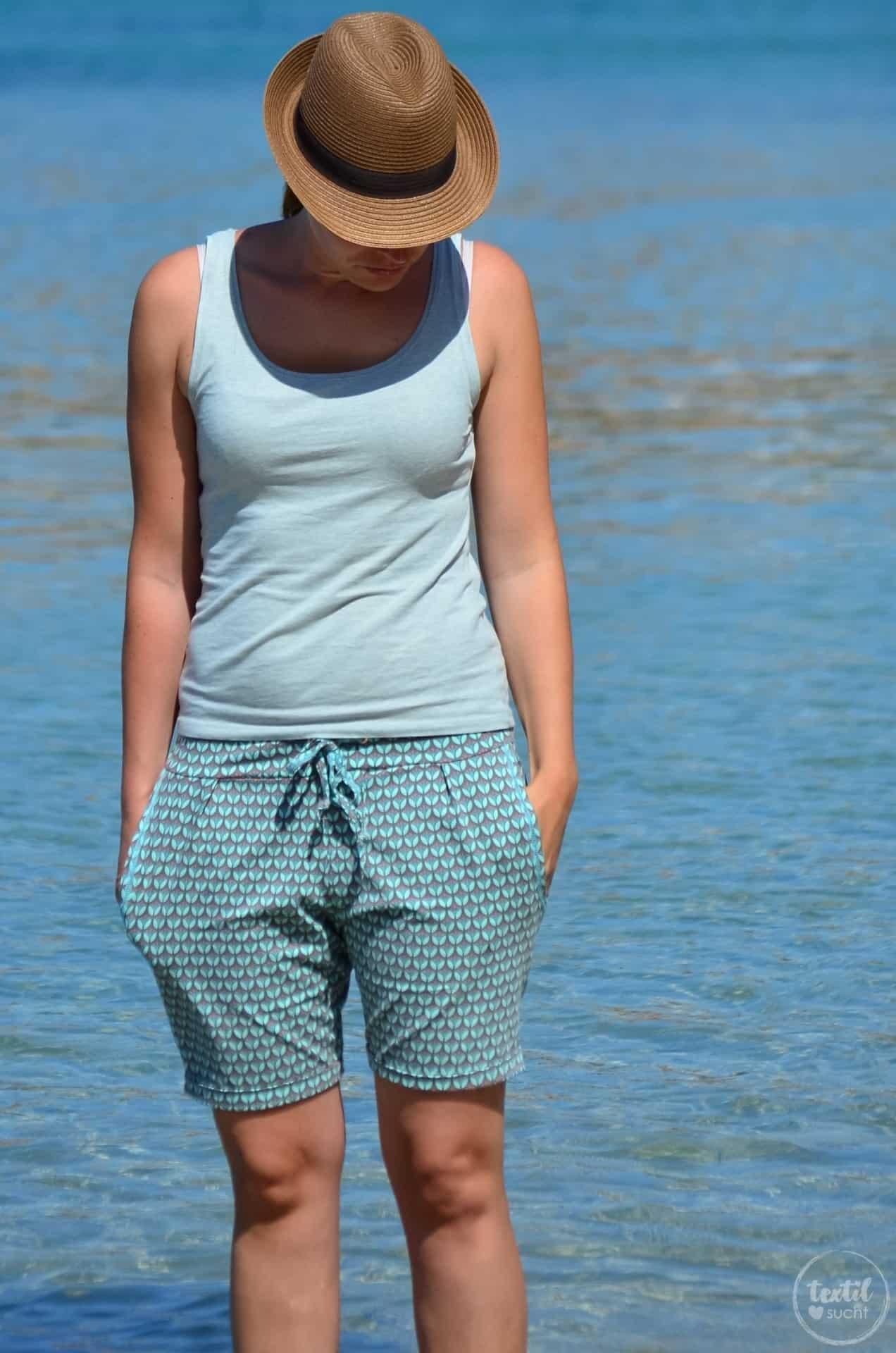 Nähen für den Strand: Schnittmuster Velara als Shorts - Bild 9   textilsucht.de