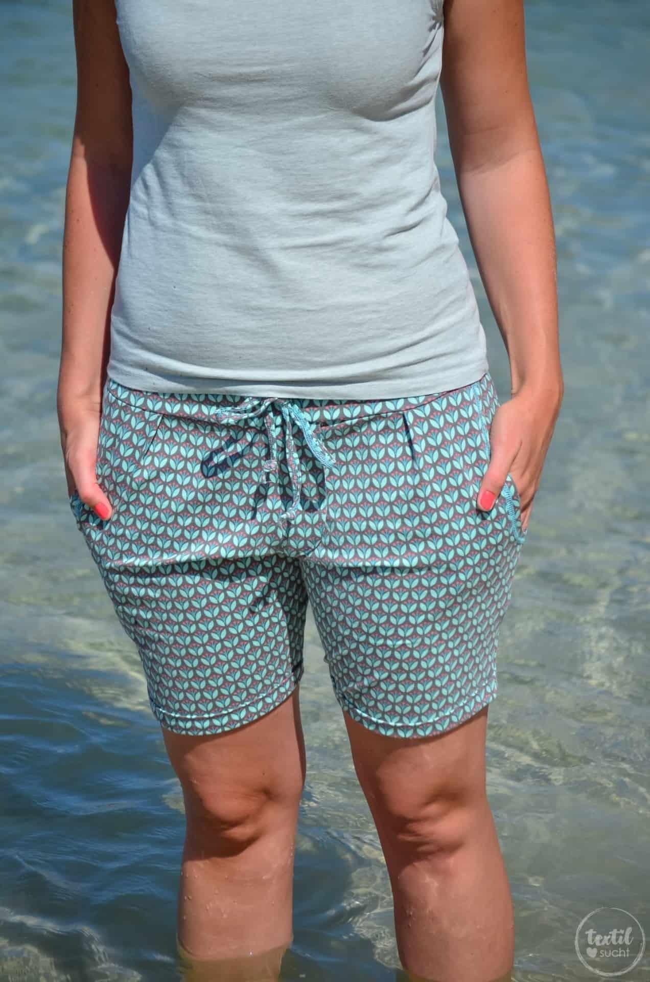 Nähen für den Strand: Schnittmuster Velara als Shorts - Bild 8   textilsucht.de