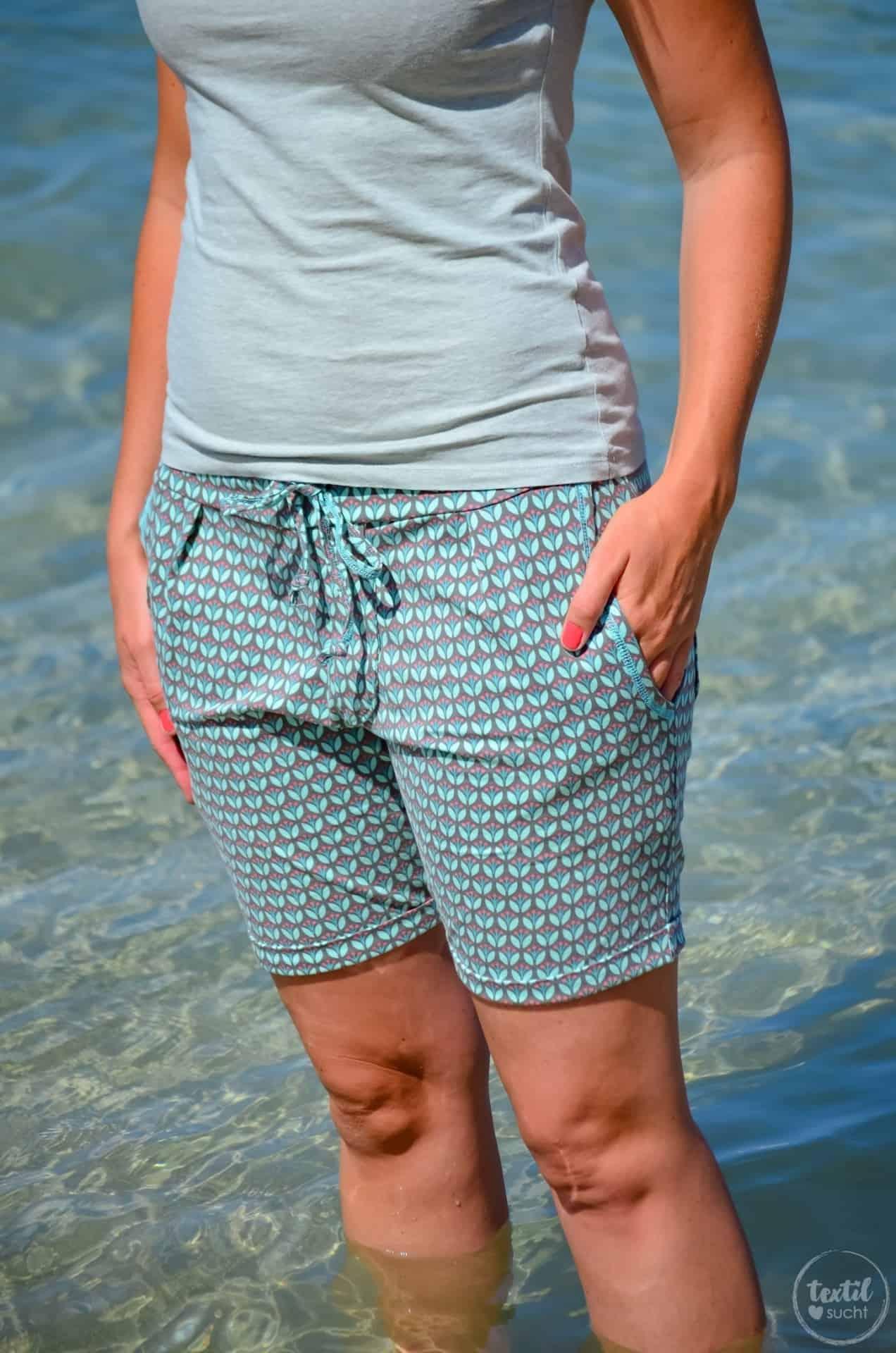 Nähen für den Strand: Schnittmuster Velara als Shorts - Bild 2   textilsucht.de