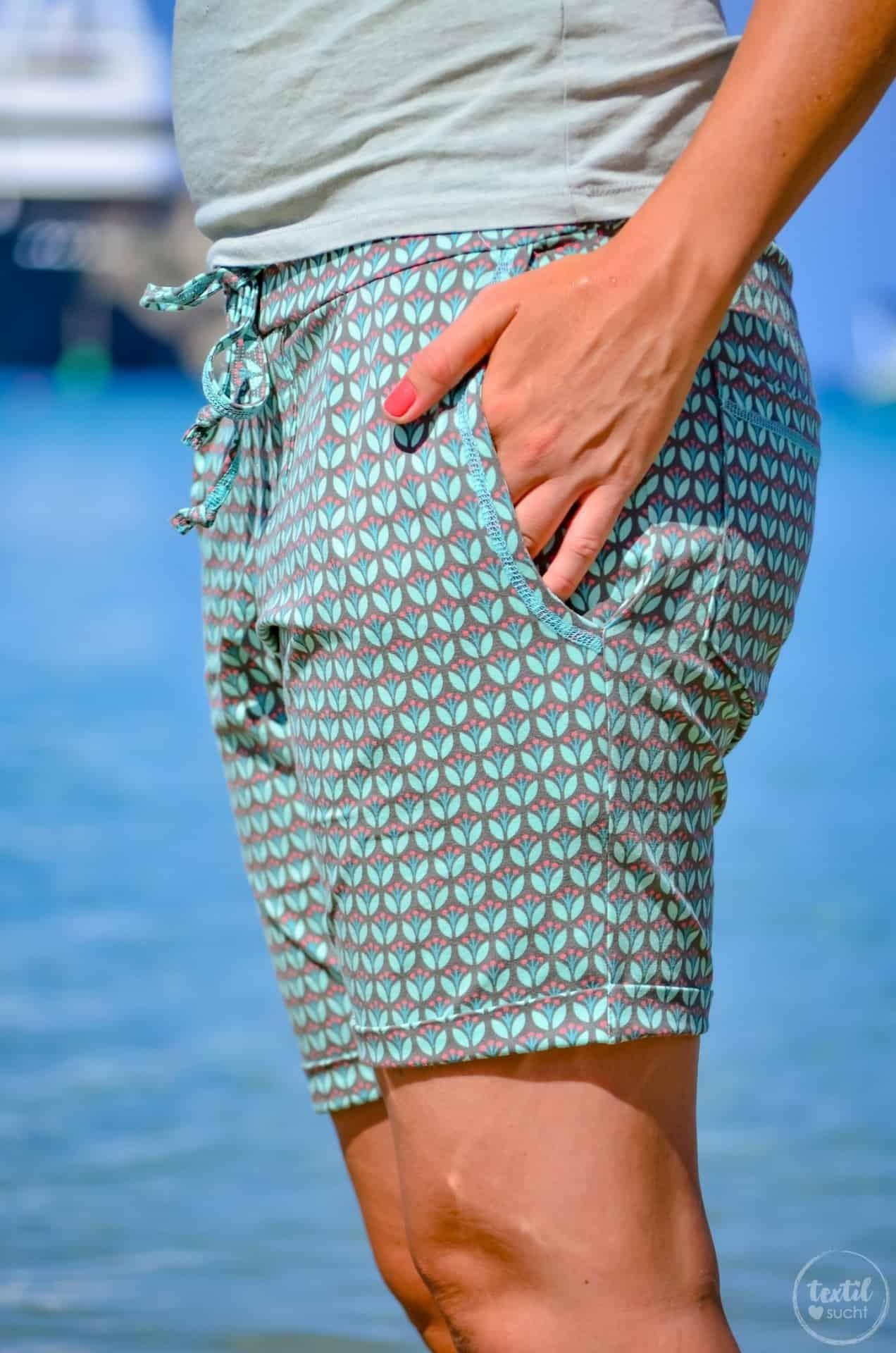 Nähen für den Strand: Schnittmuster Velara als Shorts - Bild 4   textilsucht.de
