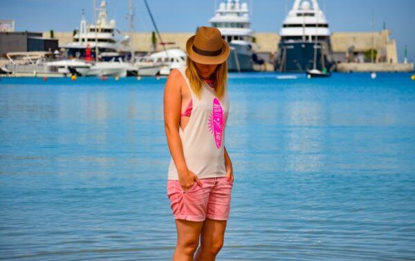 Nähen für den Strand: Mein neues Schnittmuster Das Beachshirt - Titelbild   textilsucht.de