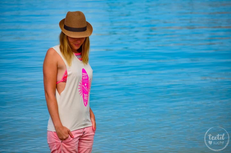 Nähen für den Strand: Mein neues Schnittmuster Das Beachshirt