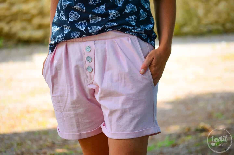 Stoff Designnähen: Luftige Shorts aus Leinen